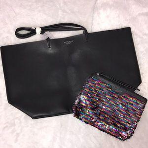 Victoria's secret tote bag set tassel Sequin NWT